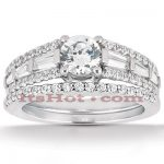 Platinum Diamond Engagement Ring Set 2.34ct