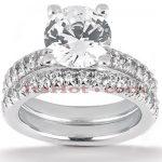 Platinum Diamond Engagement Ring Set 2.65ct