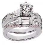 Platinum Diamond Engagement Ring Set 2.80ct