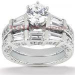 Platinum Diamond Engagement Ring Set 2.84ct