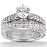 Platinum Diamond Engagement Ring Set 3.92ct
