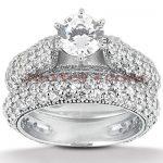 Platinum Diamond Engagement Ring Set 3.98ct