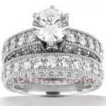 Platinum Diamond Engagement Ring Set 4.91ct