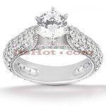 Platinum Diamond Engagement Ring Setting 1.46ct