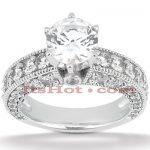 Platinum Diamond Engagement Ring Setting 2.03ct