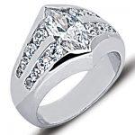 Platinum Ladies Diamond Ring 2.35ct