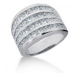 Platinum Ladies Diamond Ring 3.16ct