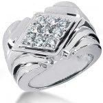 Platinum Men's Diamond Ring 1.08ct