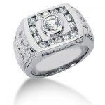 Platinum Men's Diamond Ring 1.86ct