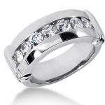 Platinum Men's Diamond Wedding Ring 1.05ct