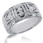 Platinum Round Diamond Ladies Ring 0.35ct