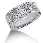 Platinum Round Diamond Ladies Ring 1.38ct