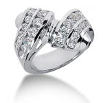 Platinum Round Diamond Ladies Ring 1.96ct