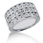 Platinum Round Diamond Ladies Ring 2.43ct