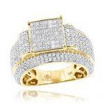 Princess Cut Diamond Engagement Rings Item 14K Gold 2.5ct