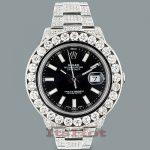 Rolex Oyster Perpetual Datejust Mens Diamond Watch 25.40ct Custom