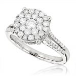 Round Diamond Engagement Ring 1.03ct 14K Gold
