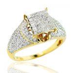 Round Princess Cut Diamond Engagement Ring 1.15ct 14K Gold