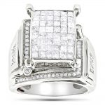 Round Princess Cut Diamond Engagement Ring 1.81ct 14K