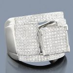 Sterling Silver Diamond Engagement Ring 1.04ct