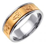 Trinity Knot Wedding Ring in 9ct White Gold