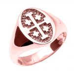 Unisex Jerusalem Ring in 9ct Rose Gold
