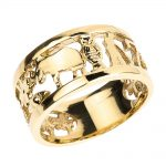 Unisex Lucky Ring in 9ct Gold