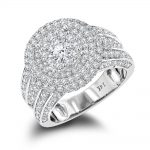 Vintage Round Diamond Engagement Ring 3.5ct 14K Gold