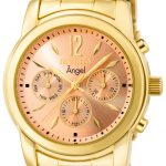 Invicta Angel Swiss Movement Quartz Watch – Gold case with Gold tone Stainless Steel band – Model 0464