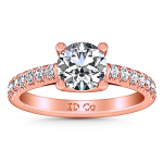 Pave Diamond Engagement Ring Zoe 14K Rose Gold