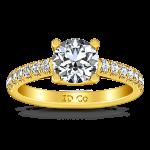 Pave Diamond EngagementRing Zoe 14K Yellow Gold