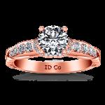 Pave Diamond Engagement Ring Flora 14K Rose Gold