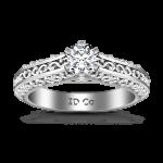 Round Diamond Solitaire Engagement Ring Whitney 14K White Gold