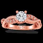 Pave Diamond Engagement Ring Maeve 14K Rose Gold