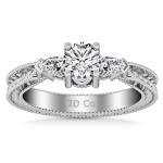 Round Diamond Three Stone Engagement Ring Haven 14K White Gold