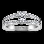 Pave Engagement Ring Season Pear 14K White Gold