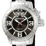 Invicta Corduba Swiss Movement Quartz Watch – Stainless Steel case with Steel, Black tone Stainless Steel, Polyurethane band – Model 10604