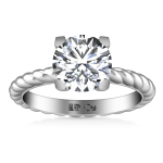 Round Diamond Solitaire Engagement Ring Ellery 14K White Gold