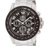 Invicta Speedway Quartz Watch – Black, Stainless Steel case Stainless Steel band – Model 10701