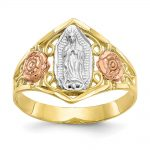 10k Two-tone Gold & Rhodium Our Lady of Guadalupe Ring