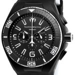 TechnoMarine Cruise Night Vision 46.65mm watch with + Silicone Black + White Black dial FS23 Quartz – Model 115056