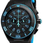 TechnoMarine Cruise Night Vision 46.65mm watch with + Silicone Black + Blue Black dial FS23 Quartz – Model 115058