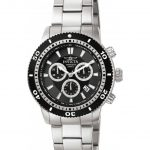 Invicta Specialty Mens Quartz 45mm Black case Stainless Steel band – Model 1203