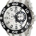 Invicta Jason Taylor Quartz Watch – Black, Titanium, Sandblast case with Black, White tone Stainless Steel, Polyurethane band – Model 12947