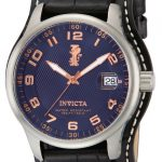 Invicta I-Force Quartz Watch – Stainless Steel case with Black tone Leather band – Model 12972