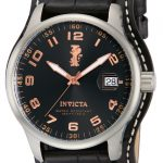 Invicta I-Force Quartz Watch – Stainless Steel case with Black tone Leather band – Model 12975