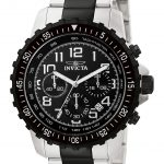 Invicta Specialty Mens Quartz 48mm Black case with Steel, Black tone Stainless Steel band – Model 1326