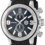 Invicta Jason Taylor Quartz Watch Black case with Black tone Polyurethane band – Model 13687