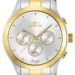 Invicta Angel Swiss Movement Quartz Watch – Gold, Stainless Steel case with Steel, Gold tone Stainless Steel band – Model 13725