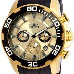 Invicta Pro Diver SCUBA Men's Quartz Gold Case, Gold Dial – 22346